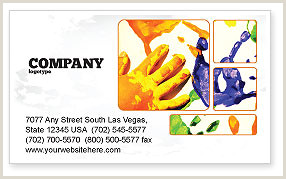 Painting Business Card Templates Free Painting Business Card Templates In Microsoft Word