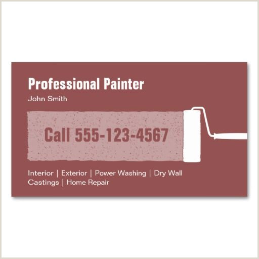 Painting Business Card Templates Free Professional Painter Business Card Template