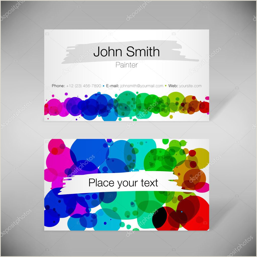 Painting Logos Business Cards ᐈ Logos Painting Business Stock Vectors Royalty Free