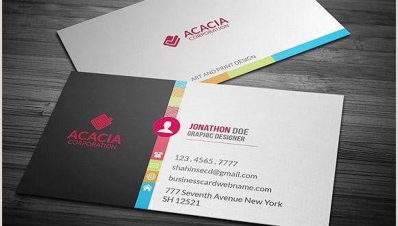 Painting Logos Business Cards Colorful Business Card