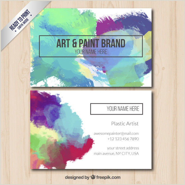 Painting Logos Business Cards Download Vector Business Card With Art And Paint Brand