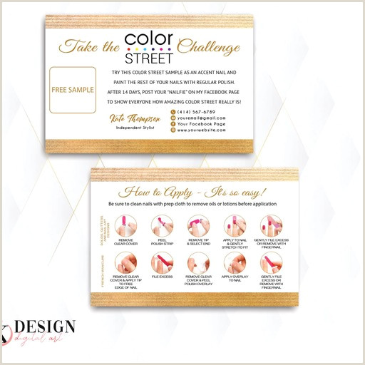 Painting Logos Business Cards Personalized Color Street Twosie Card Color Street Challenge Cl54