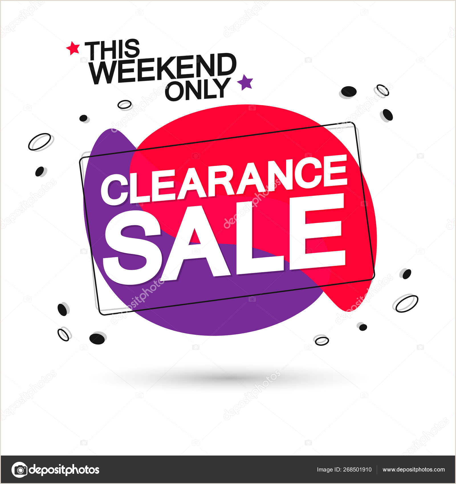 Paparazzi Retractable Banner Clearance Sale Tag Bubble Banner Design Template This Weekend Only App Icon Vector Illustration