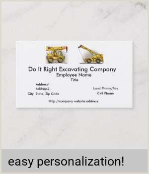 Partner Title On Business Card Crane Construction Equipment Business Card