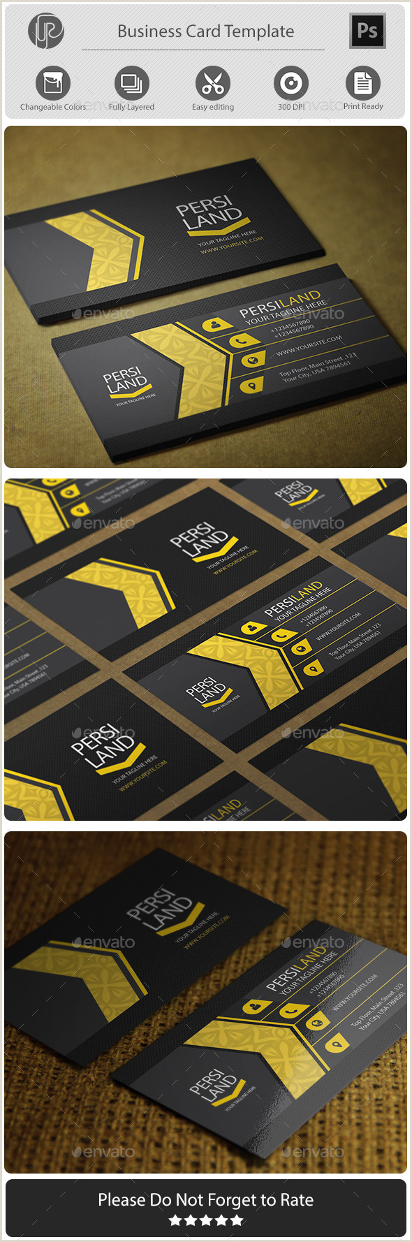 Personal Business Card Examples Personal Business Card Templates & Designs From Graphicriver