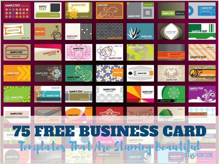 Personal Business Cards Templates Free 75 Free Business Card Templates That Are Stunning Beautiful
