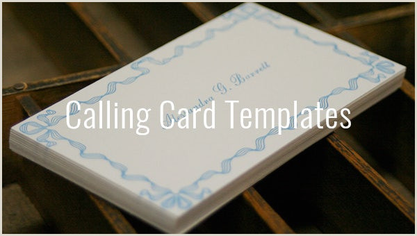 Personal Calling Cards Examples Calling Card Template 16 Free Sample Example Format