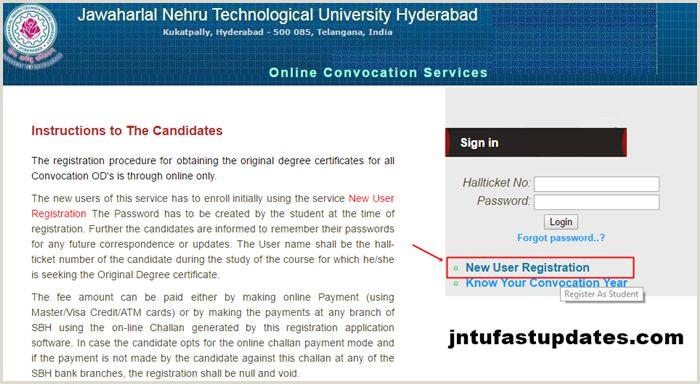 Personal Name Cards Jntuh Od Apply Line 2020 Original Degree Application