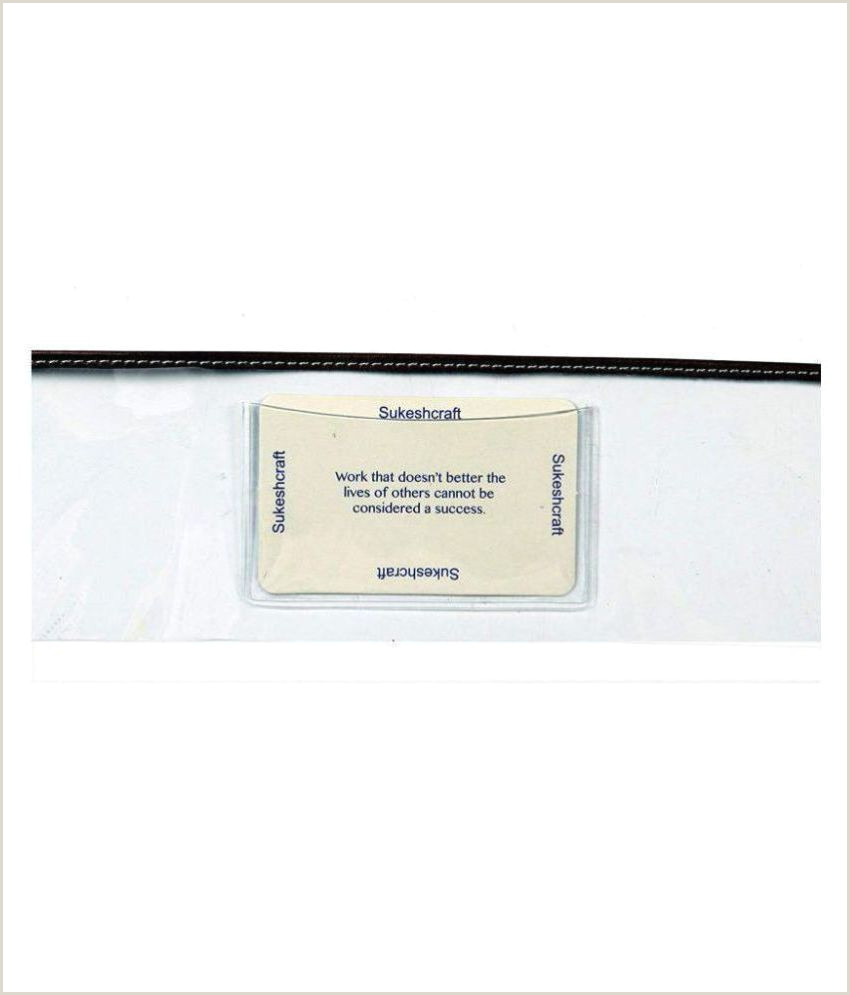 Personal Name Cards Multiple Cheque Book Holder And Business Card 22 Slots