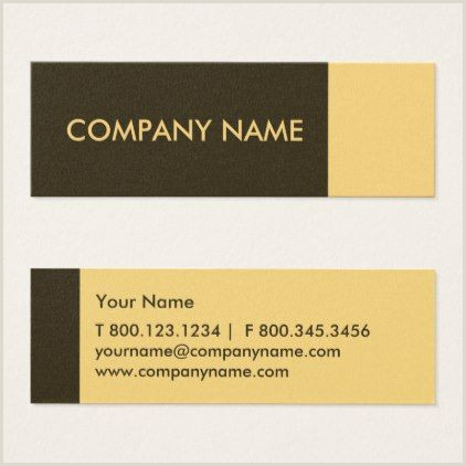Personal Name Cards Yellow Brown Modern Mini Business Card Professional Ts