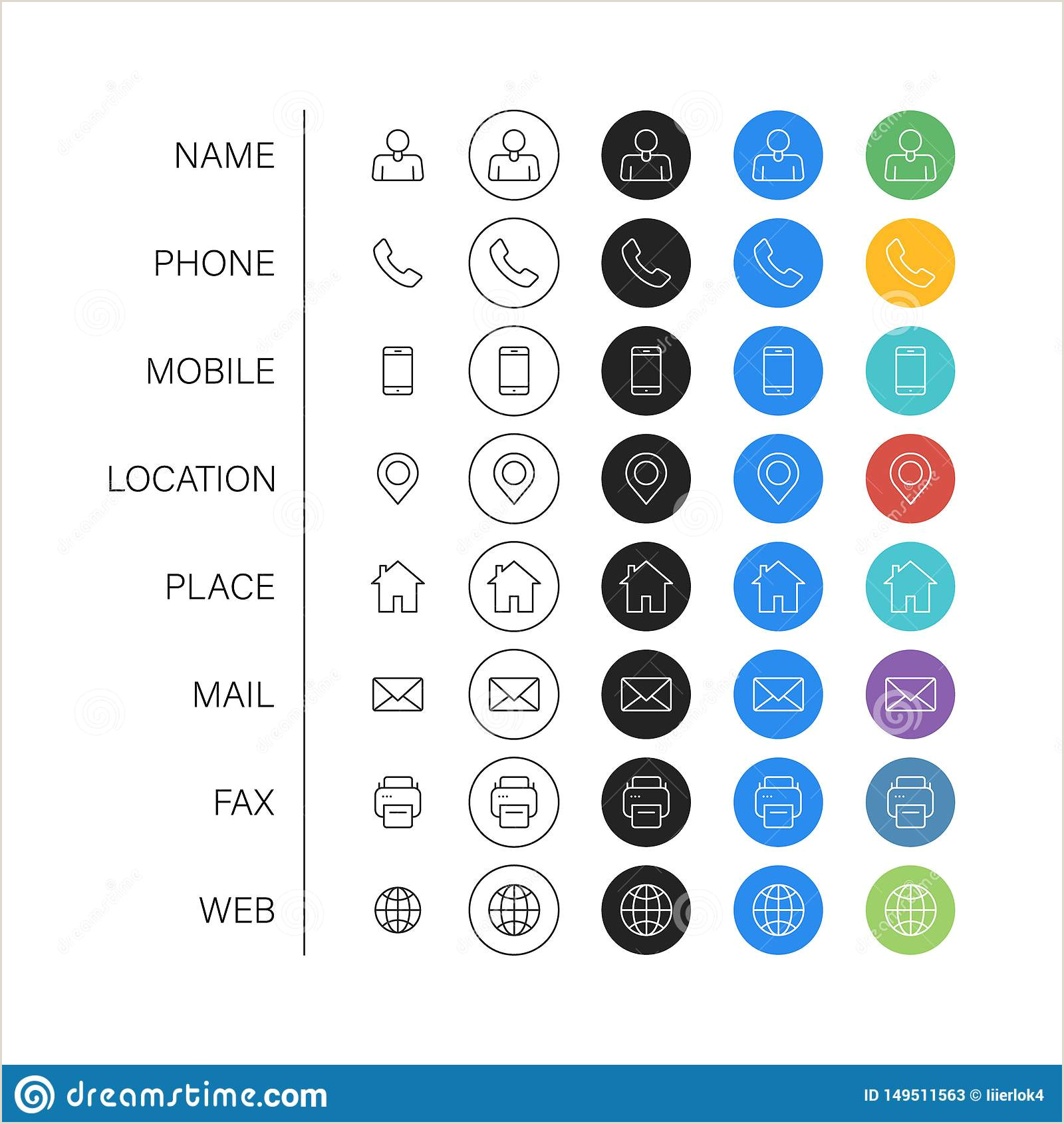 Phone Icon For Business Card Business Card Icons Stock Illustrations – 91 662 Business