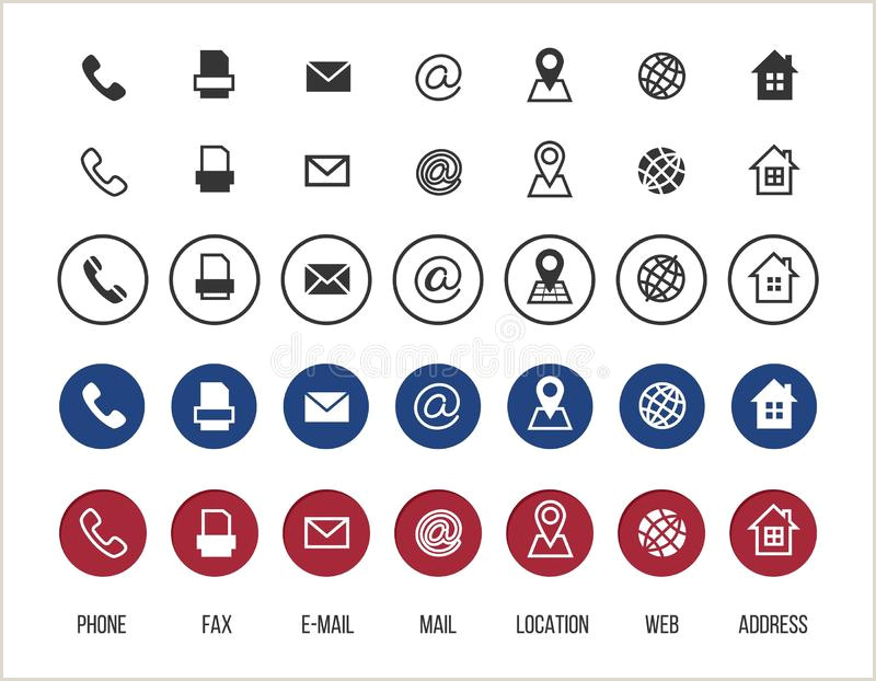 Phone Icon For Business Card Business Card Vector Icons Home Phone Address Telephone