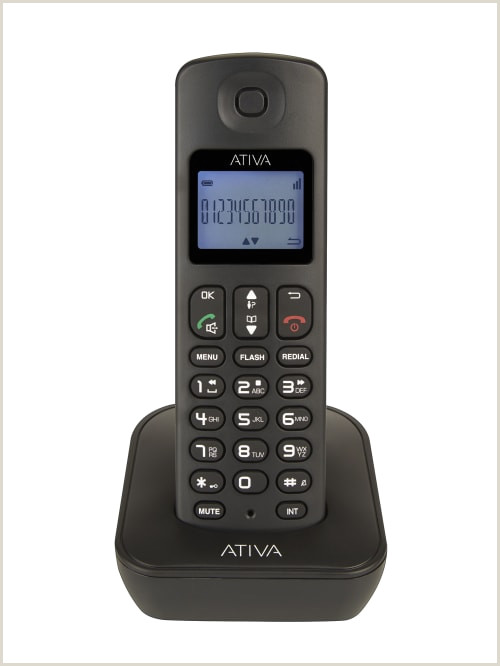 Phone Numbers On Business Cards Ativa™ Dect 6 0 Cordless Phone With Answering Machine And Speakerphone Wps01 Item