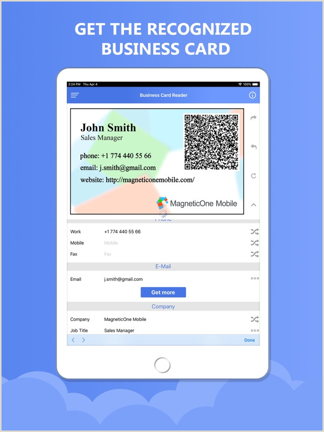 Phone Numbers On Business Cards Business Card Reader 4 Hubspot On The App Store