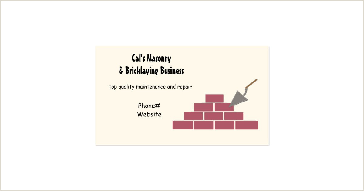 Phone Numbers On Business Cards Business Card Size Inches Bricklaying Business Cards
