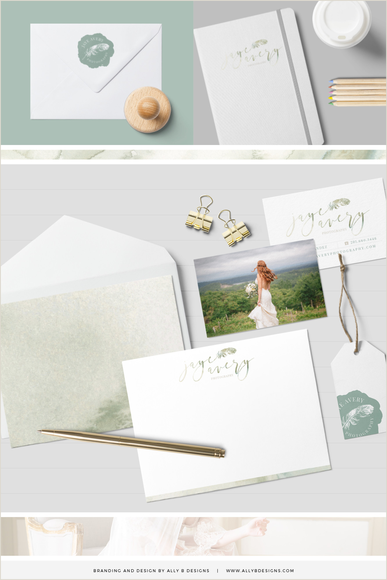 Photographer Business Cards Examples Custom Brand Design By Ally B Designs