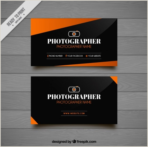 Photography Business Card Design Free Vector
