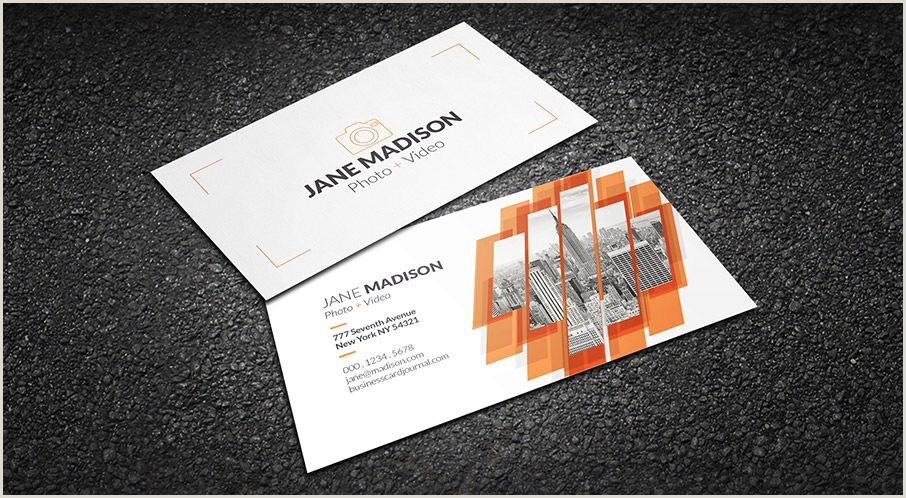 Photography Business Card Examples Free Cool Abstract Grapher Business Card Template