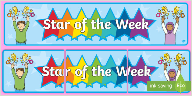 Pop Up Banner Design Star Of The Week Display Banner Teacher Made