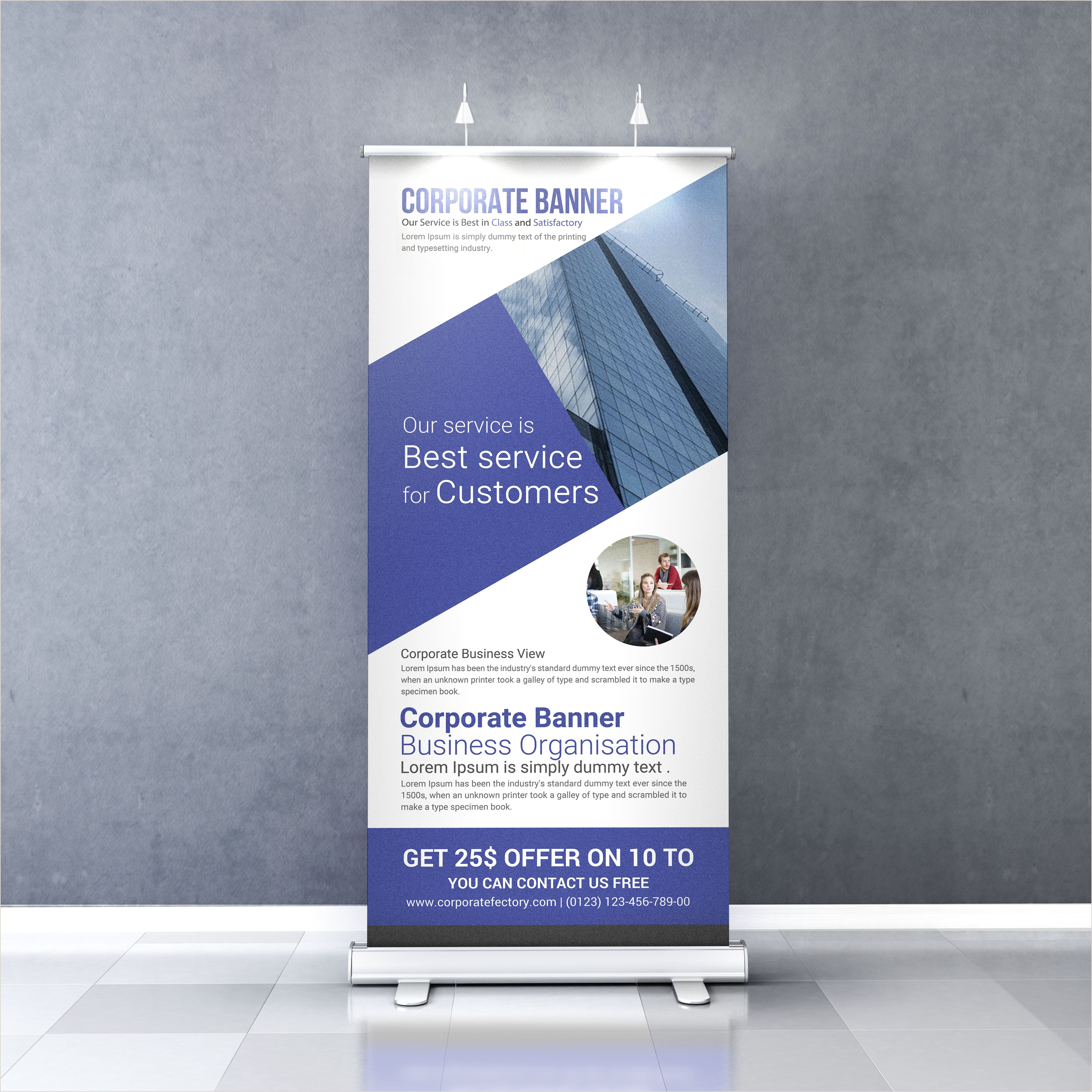 Pop Up Banner Examples Background Roll Up Banner Design Template Free Download
