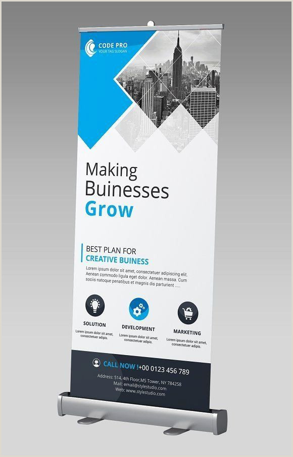 Pop Up Banner Examples Retractable Banner Design Templates Luxury Business Rollup