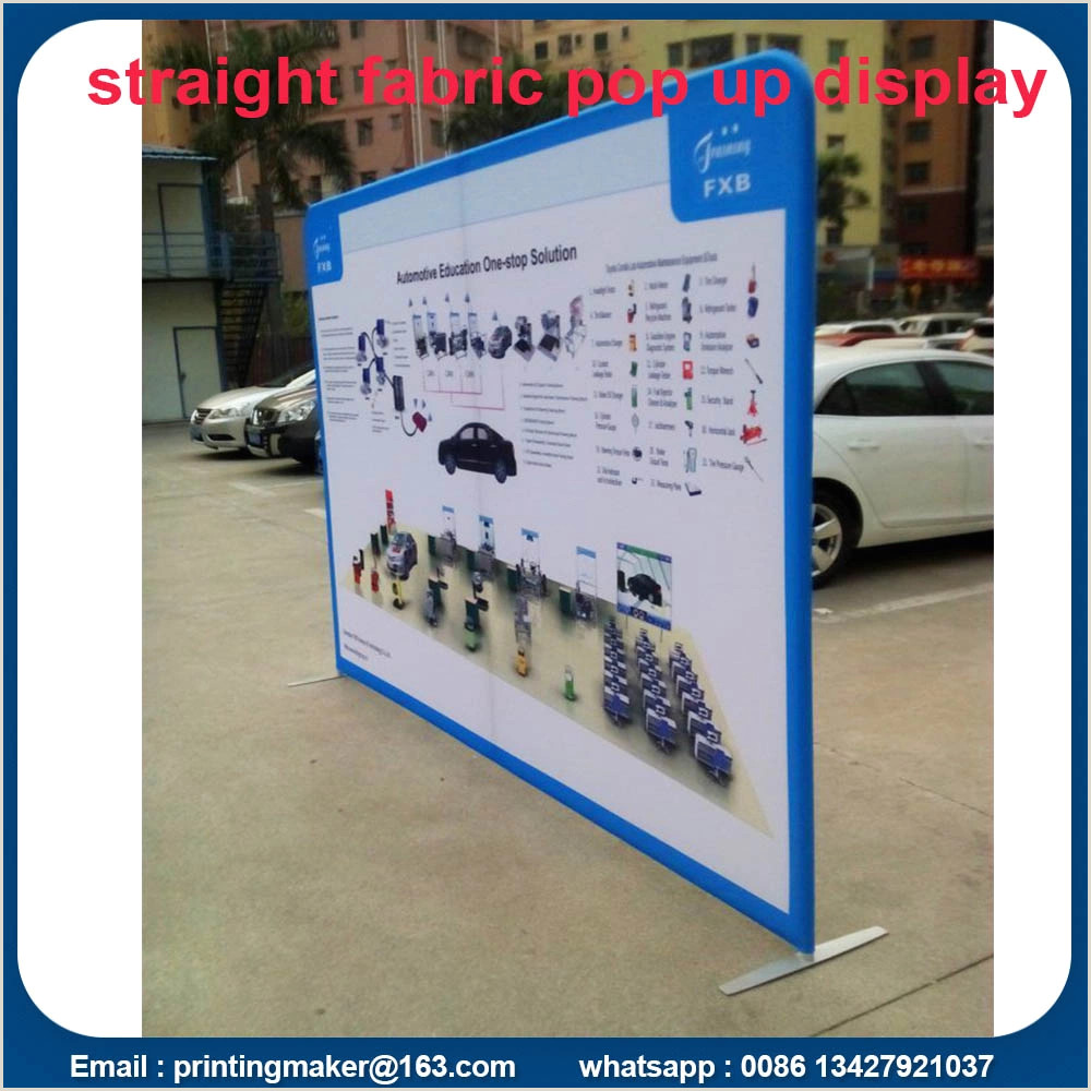 Pop Up Banner Parts 8 Ft Tension Fabric Backdrop Trade Show Displays China