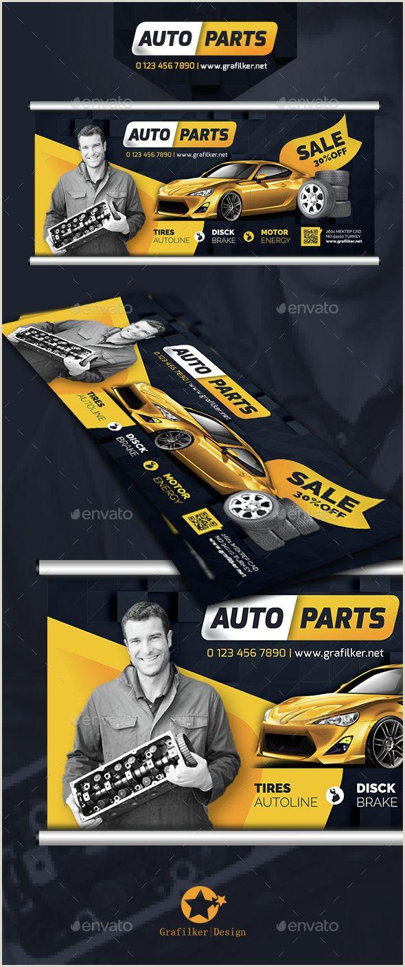 Pop Up Banner Parts Auto Spare Parts Billboard Templates