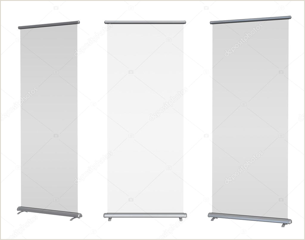 Pop Up Banner Parts Blank Roll Up Banner Display Clipping Path Included