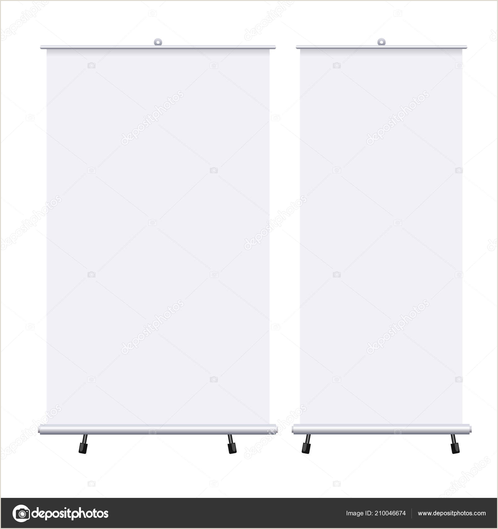 Pop Up Banner Psd Blank Roll Up Banners Set Isolated On The White Background Design Template Blank Pop Up Banner For Presentation Corporate Training And Briefing