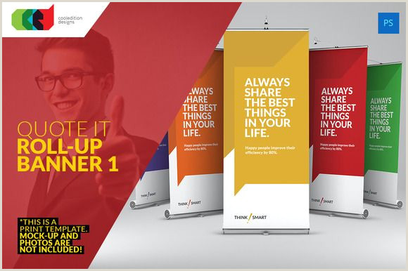 Pop Up Banner Template Quote It Roll Up Banner 1
