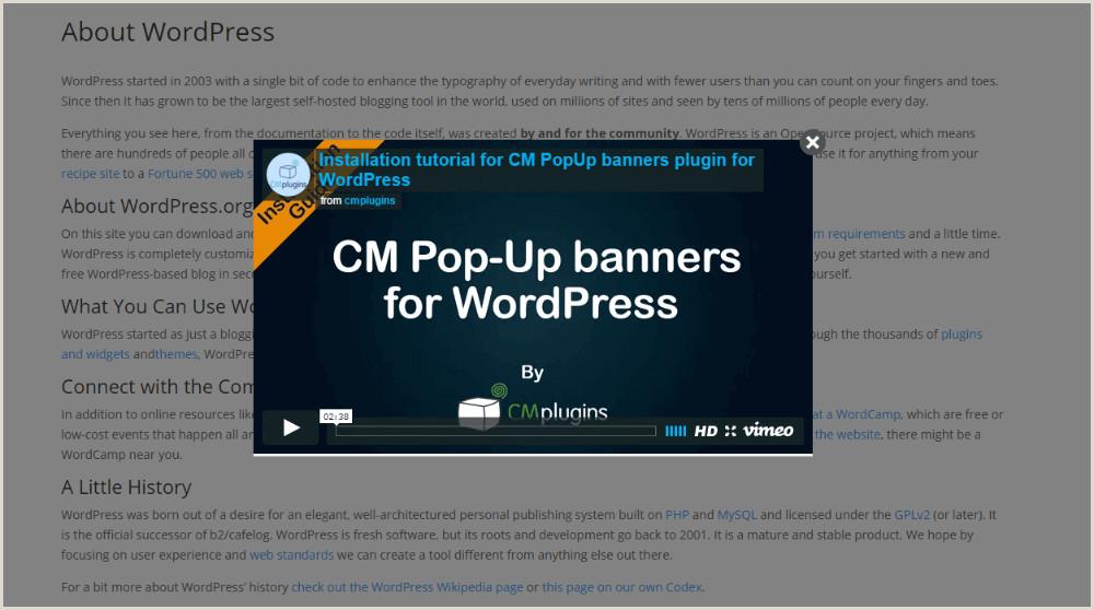 Pop Up Banner WordPress Plugin Pop Up Banners