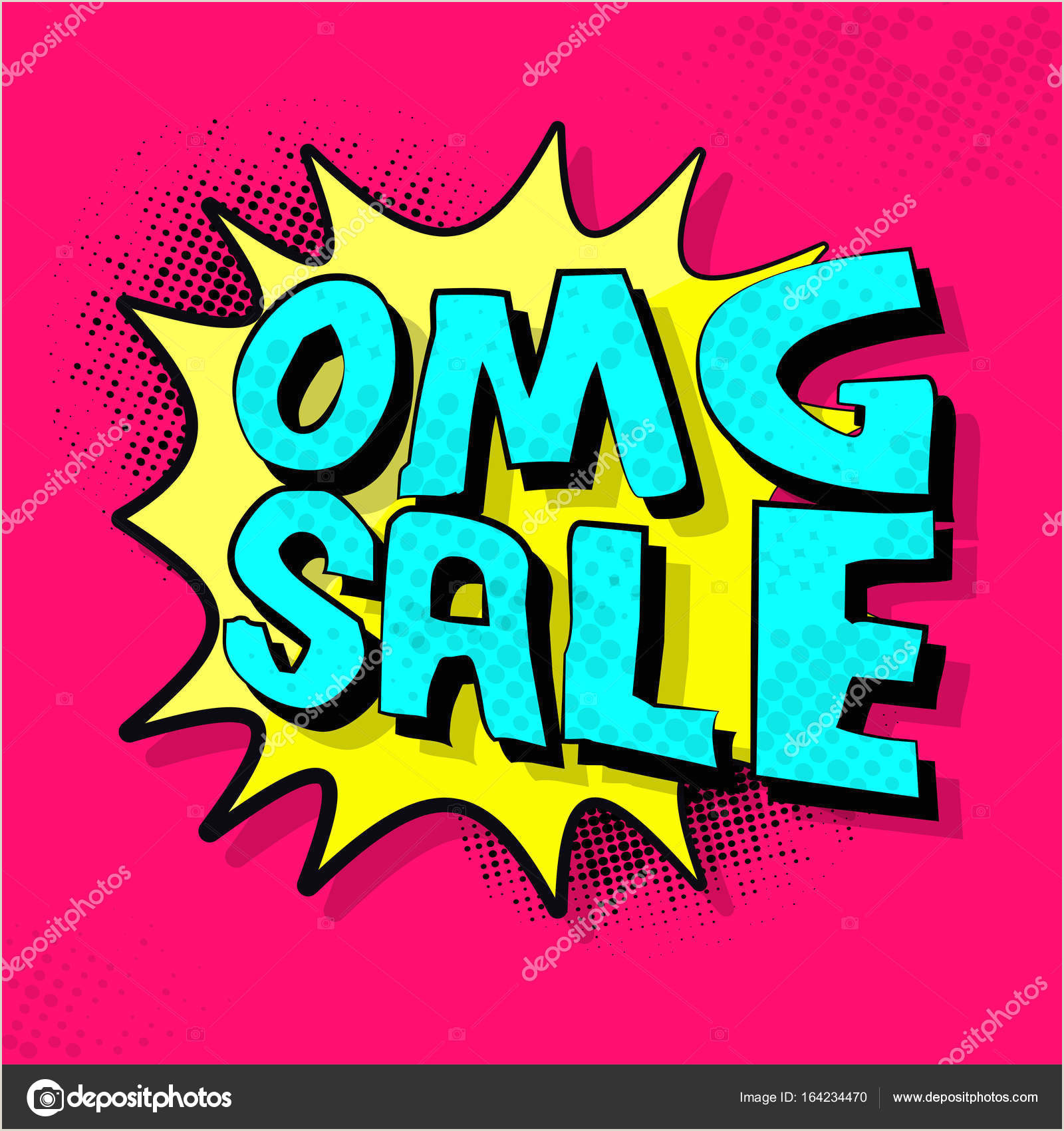 Pop Up Marketing Banners Omg Sale Banner Or Sale Poster Design In Popart Style