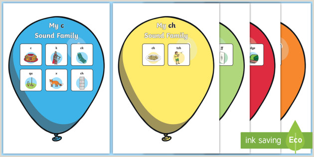 Pop Up Poster Display My Sound Families On Balloons Display Posters My Sound