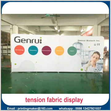 Pop Up Signs For Trade Shows 8 Ft Tension Fabric Backdrop Trade Show Displays China