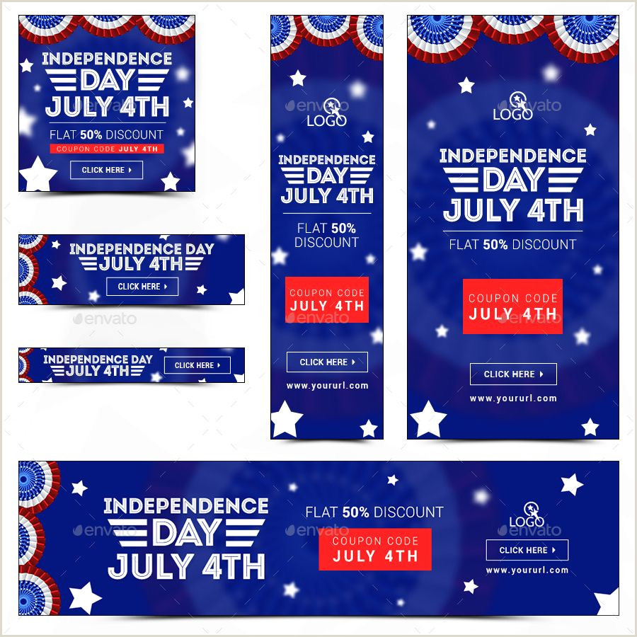 Popup Banner Coupon Fouth Of July Sale Banners Bundle 10 Sets 180 Banners