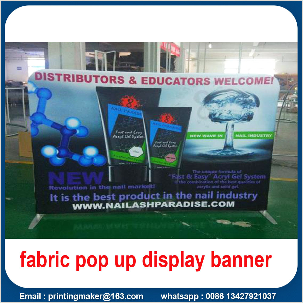 Popup Display Banner 6ft Backdrop Fabric Display With Double Sides China