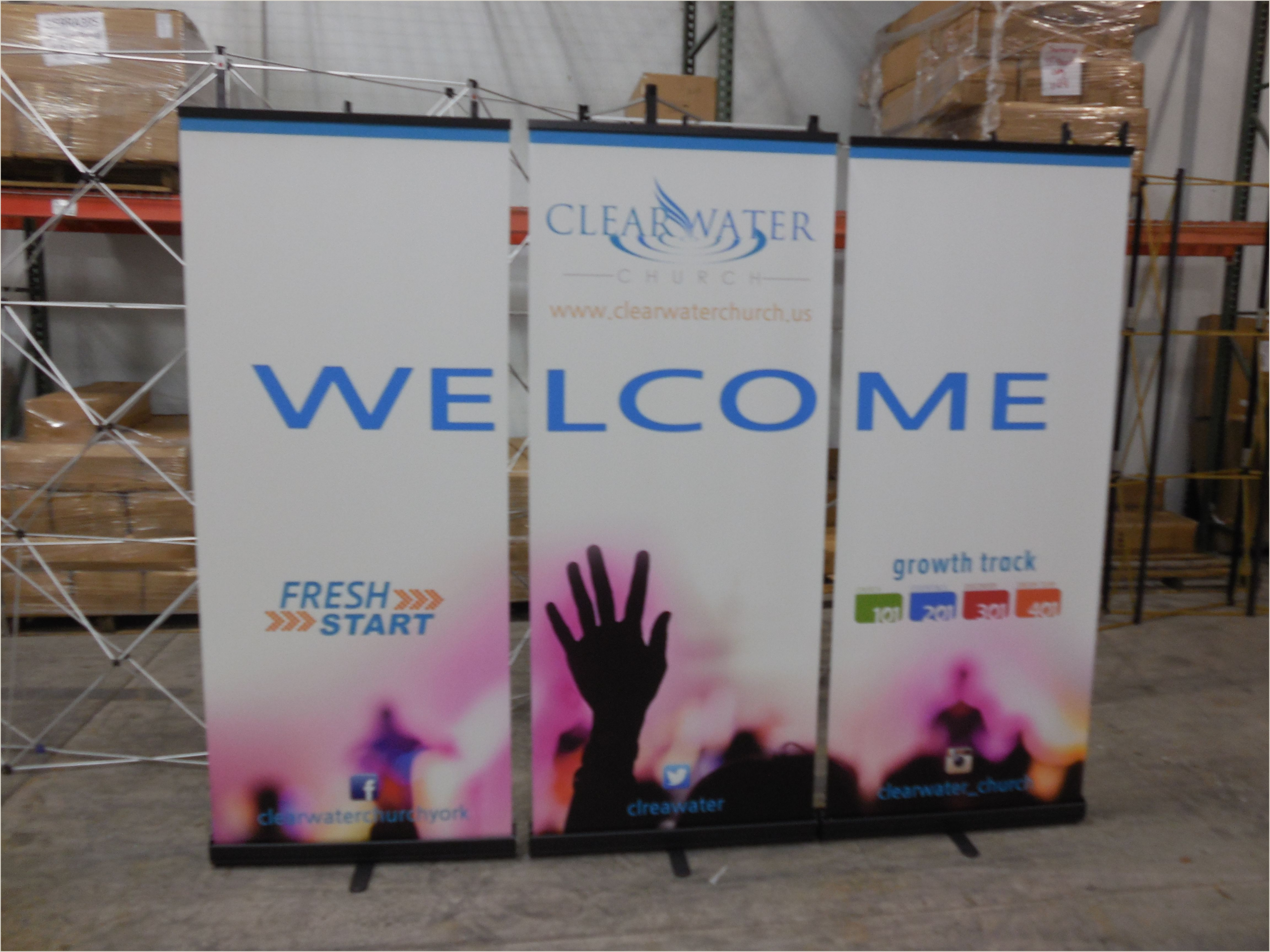 Portable Banner Display Banner Stand Wall