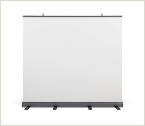 Portable Banner Displays Wide Portable Advertising Banner And Roll Up On A White