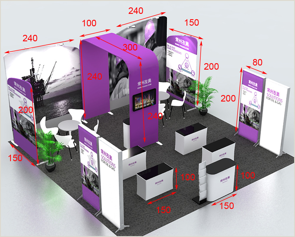 Portable Banner Stand Us $4350 0 20ft Portable Pop Up Stand Trade Show Display Booth Exhibition Sets With Roll Banner Counters Tv Bracket Lights Set Up Light Bannerset 2