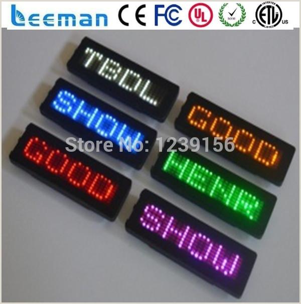 Portable Display Signs Mini Led Mobile Display Led Text Display Sign Wireless Led