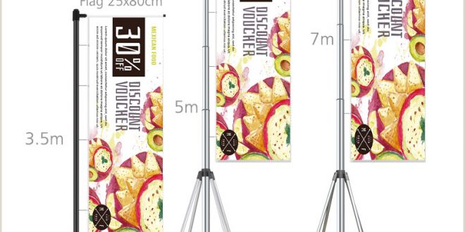 Portable Poster Stand Outdoor Advertising Screens Line Shopping