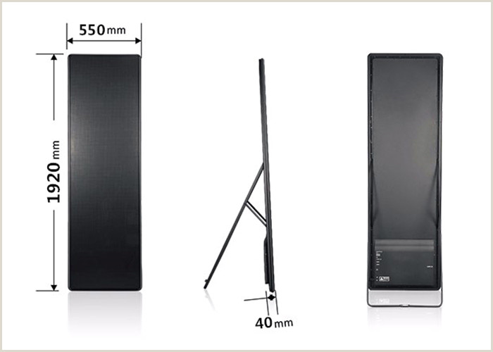 Portable Poster Stand P3 Ultra Thin Led Poster Display Smd Floor Standing Led