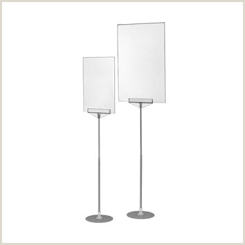 """Portable Poster Stand Poster Stand With Acrylic Pocket """"xt New Series"""""""