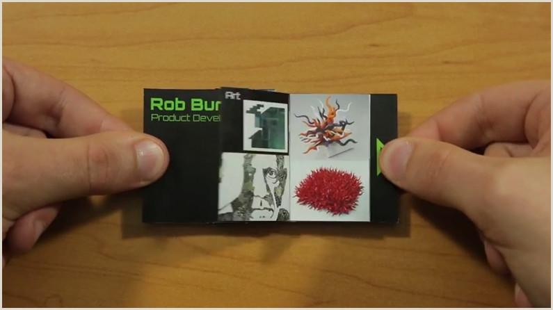 Portfolio Business Card Pop Up Business Card Doubles As A Portfolio