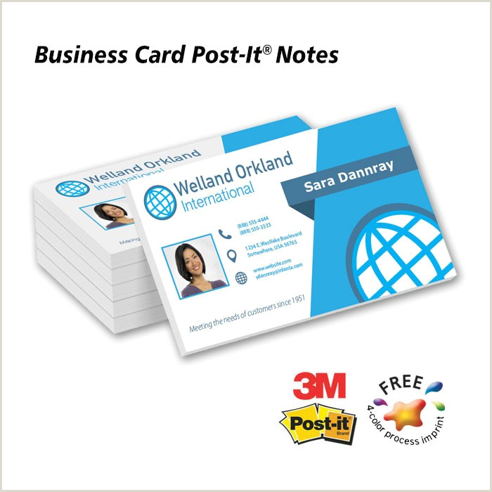 Post It Business Cards 4 C Post It Note Business Cards 50 Sheet