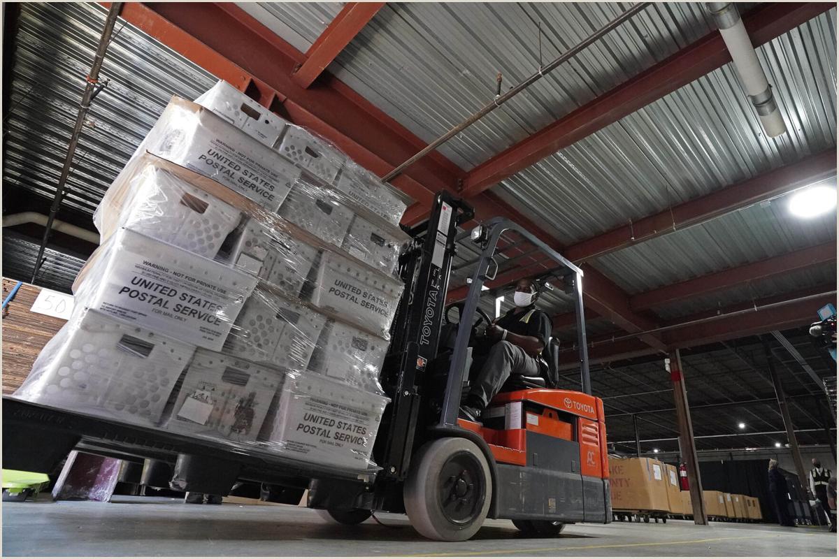 Post It Business Cards Battleground Postal Delays Persist With Mail Voting Underway