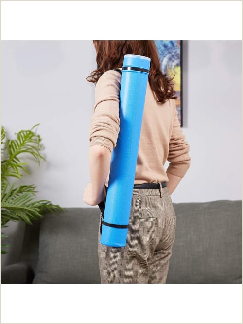 Poster Board Carrying Case Plastic Storage Tube Poster Tube With Strap Documents Blueprints Artwork Portfolio Plastic Tube Expandable Carrying Case Blue 40 25 Inches In