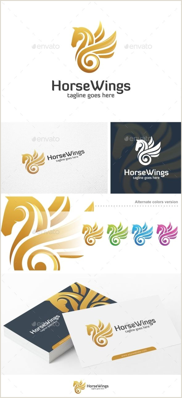 Presentation Card Template Gryphon Logo Template — Vector Eps Luxury Wings
