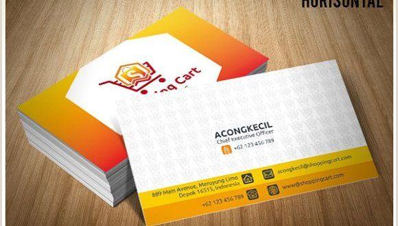 Presentation Card Template Premium Business Card Shop Cart