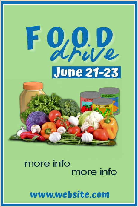 Price Signs Template Food Drive Poster Template